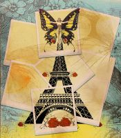 Eiffel Tower Vintage Collage by Diamara