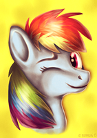 Rainbow Dash headshot by MyLittleBerneri