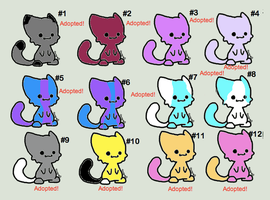 Free Chibi Cats Set 1 -CLOSED- by WarriorCatLuver123