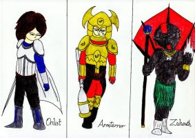 Characters From War Against Antaurus and Star 2 by lordtrigonstar