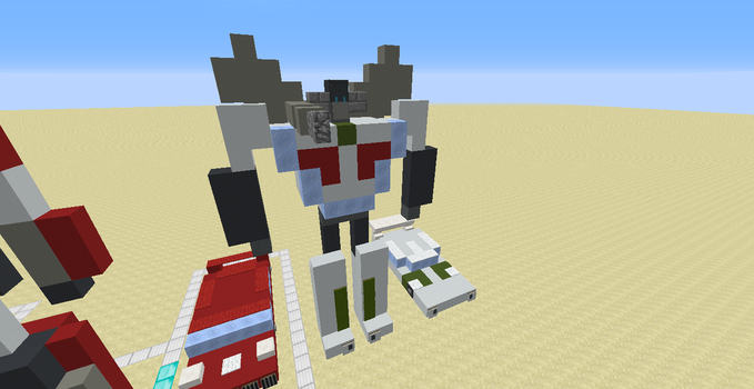 Wheeljack (A Minecraft 1.12.X Creation) by Omega-the-24th-Wixon