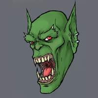 Orc head by OnHolyServiceBound