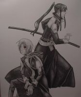 Allen Walker and kanda done by LoneWolfKetsueki