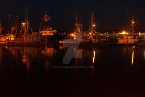 Harbour at Night 2 by Tegatana