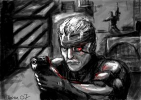 Metal gear solid 4- Snake by prpettersen