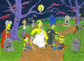 Halloween Simpsons by Bakura-lover