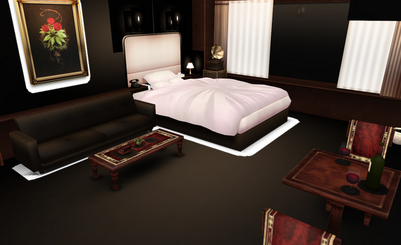 MMD Fancy and Romantic hotel room by amiamy111