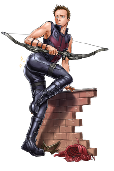 marvel bishounen hawkeye by stupjam