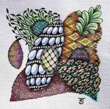 Zentangle 1 w/Color by CREATIVESOUL1927