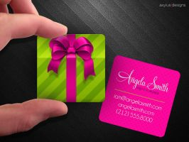 Square Gift Box Business Card by axylus