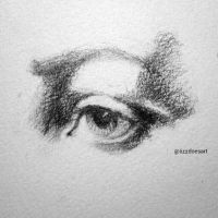 Eye sketch (three - black and white) by LizzVisions
