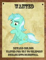 Lyra wanted poster. by Railphotos