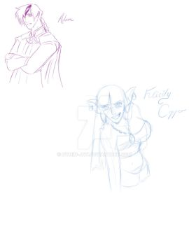 Infinite Origins Character sketches by Dymin-Jay