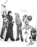 Hellsing -High School Group- by skangl