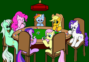 Poker ponies by BronyQuest