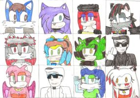 Friends Yearbook: colored by danucciguzman