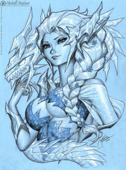 ELSA Ice Dragon by MichelleHoefener