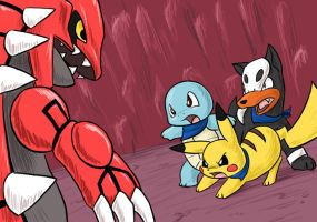 Blue Rescue Team vs Groudon