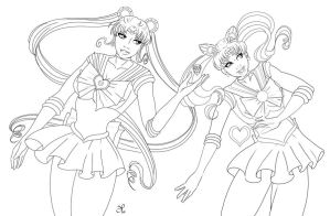 Sailor Moons by SChappell