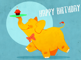 Birthday Elephant by rollingrabbit