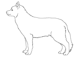 Paint friendly lineart: dog by HappyDucklings