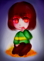 Chara- Undertale by Vhoii