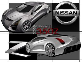 Nissan 350z Concept -Mural- by Hossworks