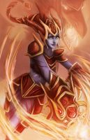League of legends: Shyvana's flame by Ka-ho