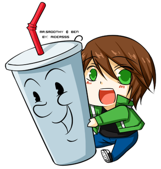 Mr.Smoothy and Ben Tennyson by rider555
