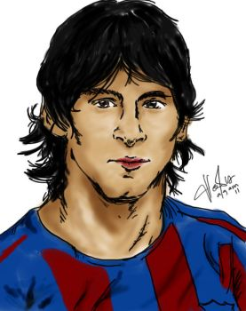 messi paint by agemZ