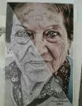 Realistic Painting Elder Woman 2 by CaryHM