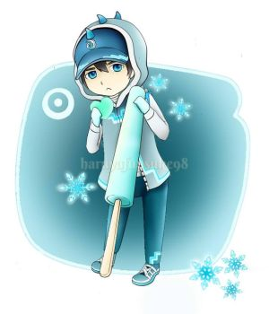 Chibi Boboiboy Ice with popsicle by Khaireen