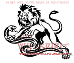 Tribal Fury Lion Snake Tattoo by WildSpiritWolf