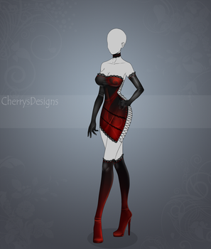 (closed) Auction Adopt - Outfit 438: Mars Dress by CherrysDesigns