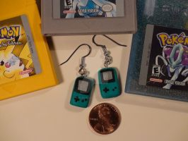 Gameboy Color Earrings - Turquoise by Resonance21