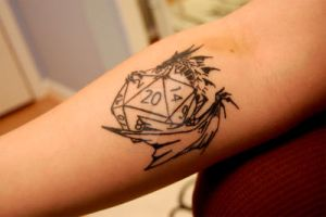 Dungeons and Dragons Tattoo by DragonLadyCels
