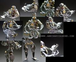 Operator (watch parts sculpture, close ups) by AMechanicalMind