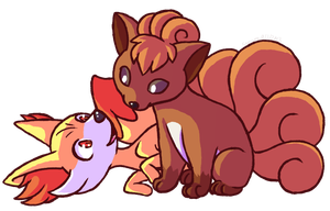 Little Fire Foxes by fox-song