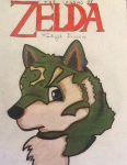 MY DRAWING OF TOONY WOLF LINK! by BlackWolfMelody24