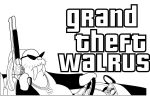 Grand Theft Walrus ShirtPrint by DirtyPete