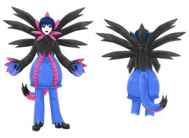 Hydreigon Pokemon Gijinka design by Trinamon