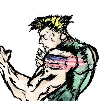 15 minute Guile Study by MisterTomodachi