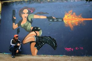 Lara Croft Wall by josephineruth