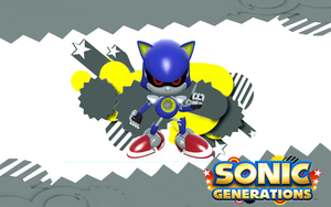 Sonic Generations-Classic Metal Sonic by NIBROCrock