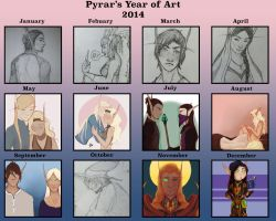 Year of art 2014 by Pyrar