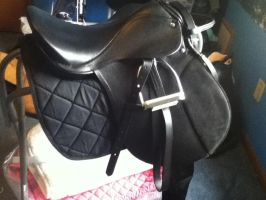 My new saddle :D by Ayedeas