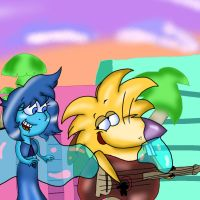 Norbert Singing to Lapis by DoraemonFan4Life