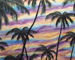 Palms At Dawn by DonBowling