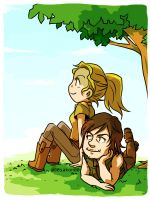 Beth and Daryl by 00sakon00