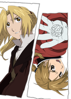 Edward and Alphonse Elric by Naruto-lover16